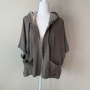Billabong Open Front Draw String Hoodie Poncho